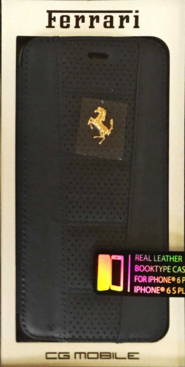【アウトレットSALE品】フェラーリiPhone6SPlus/6Plus対応 専用本革手帳型ケース カードポケット収納付 【SALE】¥1900