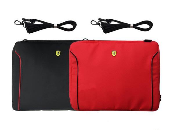 フェラーリ 13インチ ノートパソコン用ショルダーバッグ レッド