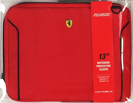 """フェラーリ13インチ ノートPC用ショルダーバッグ  赤 """"Ferrari Fiorano Computer  Case  Red """""""