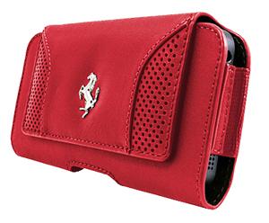 """フェラーリ スマートフォンケース""""F12 - Red Leather Belt Case"""""""