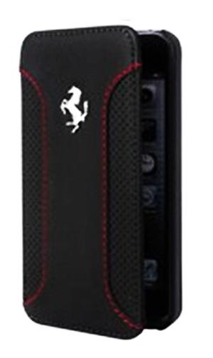"""フェラーリiPhone6/6SPlus(5.5inch)カバー """"Ferrari F12 Genuine Leather Booktype Case Black  """""""