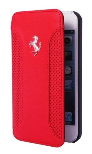 """フェラーリiPhone6/6SPlus(5.5inch)カバー """"Ferrari F12 Genuine Leather Booktype Case Red  """""""