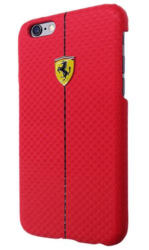 """フェラーリiPhone6/6SPlus(5.5inch)カバー """"Formula One Carbon Hard Case Red """""""