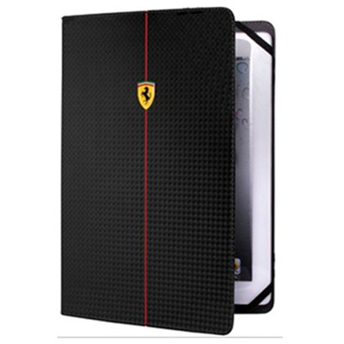 "【SALE】フェラーリ タブレット汎用ケース""FORMULA 1 Carbon effect Universal Tablet Case 9-10 inch Black"""