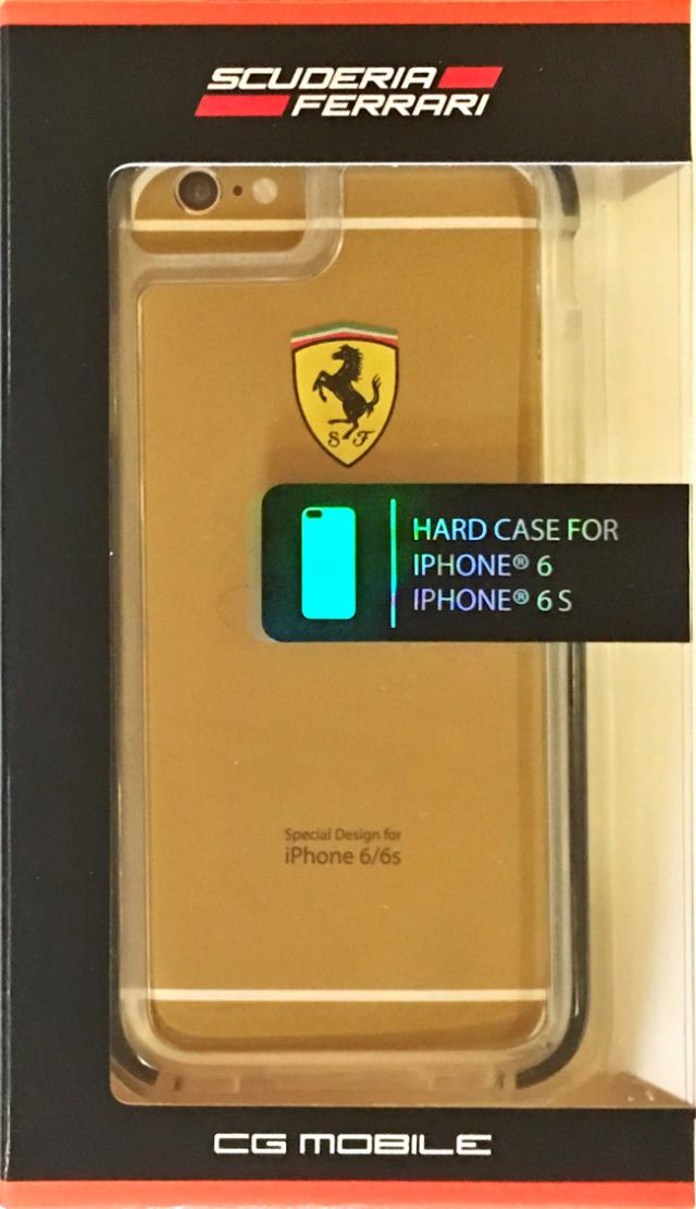 【アウトレットSALE品】フェラーリiPhone6S/6対応 衝撃吸収ケース クリア 【SALE】¥1900