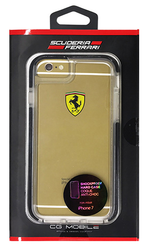 "フェラーリiPhone7 カバー ""Ferrari ShockProof Back Cover Clear Black"""