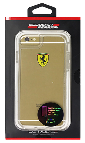 "フェラーリiPhone7 カバー ""Ferrari ShockProof Back Cover Clear White"""