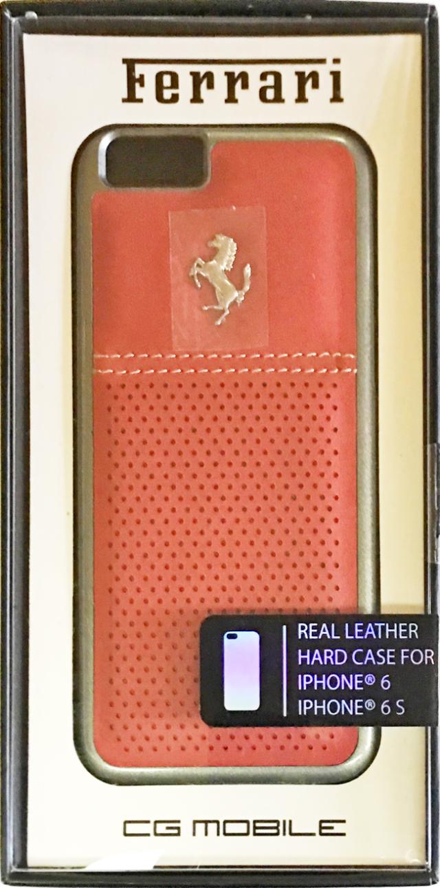 【アウトレットSALE品】フェラーリiPhone6S/6対応 F12 本革ハードケース レッド 【SALE】¥1900