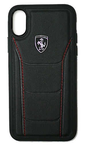 "フェラーリiPhoneX カバー ""Ferrari 488 Genuine Leather Hard Case BLACK"""