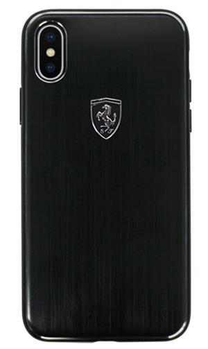"""フェラーリiPhoneX カバー """"Ferrari Aluminium Hard Case BLACK"""""""