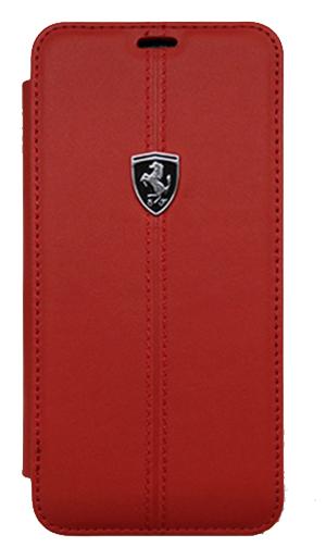 """フェラーリSamusung Galaxy S9カバー """"Ferrari - HERITAGE - Booktype Case W vertical contrasted stripe  RED"""""""