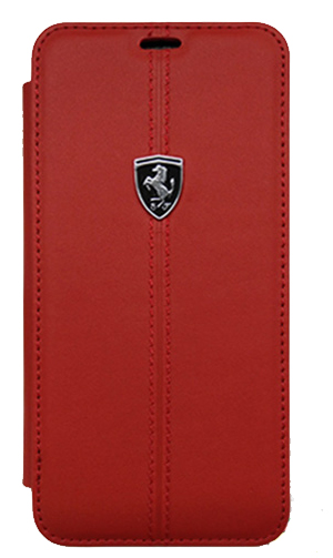 "フェラーリSamusung Galaxy S9カバー ""Ferrari - HERITAGE - Booktype Case W vertical contrasted stripe  RED"""