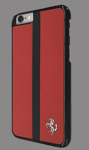 """フェラーリiPhone6/6S(4.7inch)カバー  """"Hard Case - Black Stripe - Red"""""""