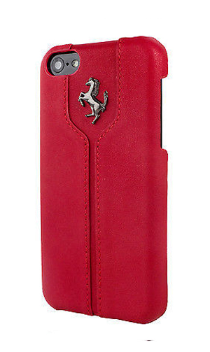 【SALE】フェラーリiPhone5C/5/5S カバー Ferrari Montecarlo Real leather HardCase Red ""