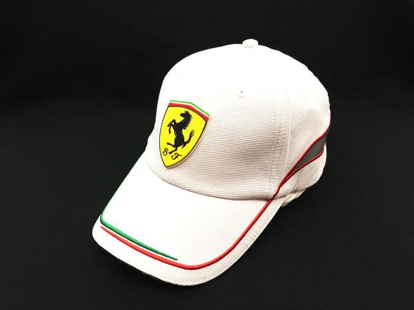 フェラーリ パドッククラブ ゲスト用  イタリアンライン ホワイトキャップ