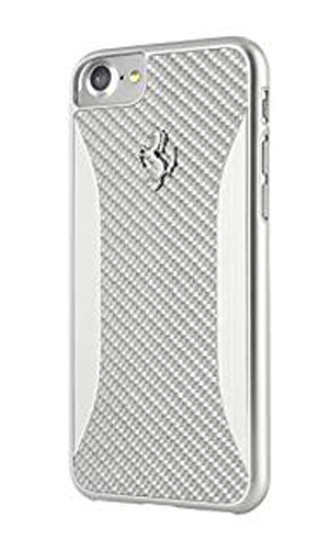 "フェラーリiPhone7 カバー ""Ferrari SF PIT SHOP Carbon Fiber Hard Case Silver"""