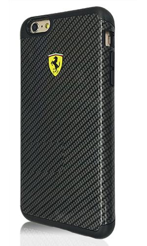 """フェラーリiPhone6/6S(4.7inch)カバー  """"2 Part Hard Case - Glossy - Carbon Print"""""""