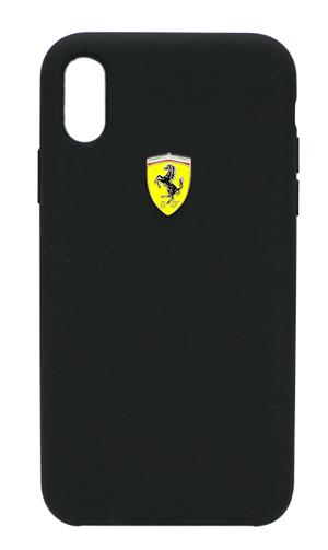 """フェラーリiPhoneXR カバー """"Ferrari - SF-Silicon Case BLACK"""" ブラック"""