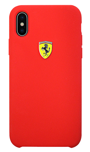 "フェラーリiPhoneX カバー ""Ferrari SF- Silicon Case RED"""
