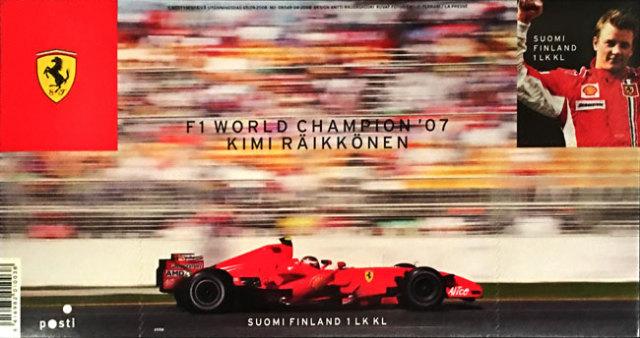 FERRARI フェラーリ キミ・ライコネン 2007年F1ワールドチャンピオン獲得記念切手