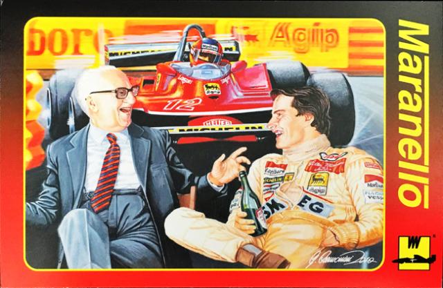 フェラーリ マラネロ ウォームアップ エンツォ&ビルニューブ メモリアルカード