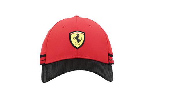フェラーリストア限定 フェラーリ カーボンカラーバイザー キャップ レッド