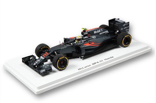 【ミニカーフェア対象】F1速報別注 スパーク 1/43 マクラーレンMP4-31 J.バトン 2016年アブダビGPラストラン仕様
