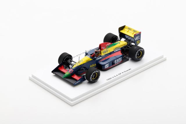 【代引き・お振込決済のみ】Racingon(レーシングオン)別注 スパーク 1/43 ラルース ローラLC89B・ランボルギーニ 鈴木亜久里 1990年アメリカGP