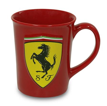 フェラーリストア限定 フェラーリ 3Dロゴ ビッグマグカップ