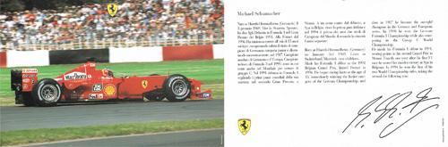 2000 フェラーリ ドライバーズカード シューマッハ