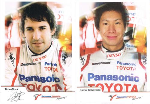 2008 TOYOTA(トヨタ) F1 ドライバーズカード2枚セット(小林可夢偉・Tグロック)