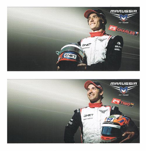 2012 マルシア ドライバーズカード 2枚セット(T.グロック・M.チルトン)