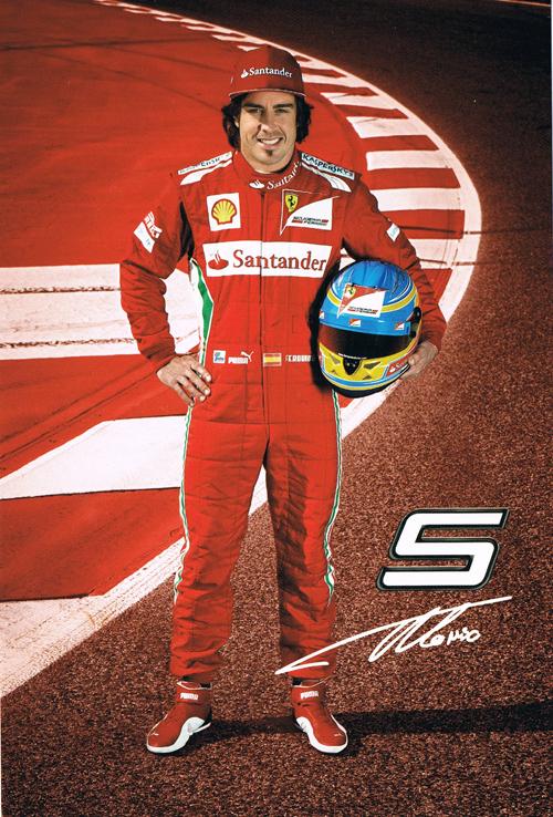 2012 フェラーリ ドライバーズカード F.アロンソ NO.5