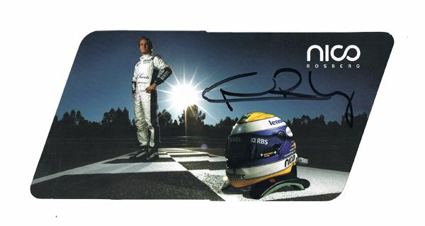 2008 ウィリアムズ  N.ロズベルグ 直筆サイン入りドライバーズカード