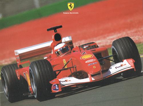 2000 フェラーリ R.バリチェロ ドライバーズカード 大判