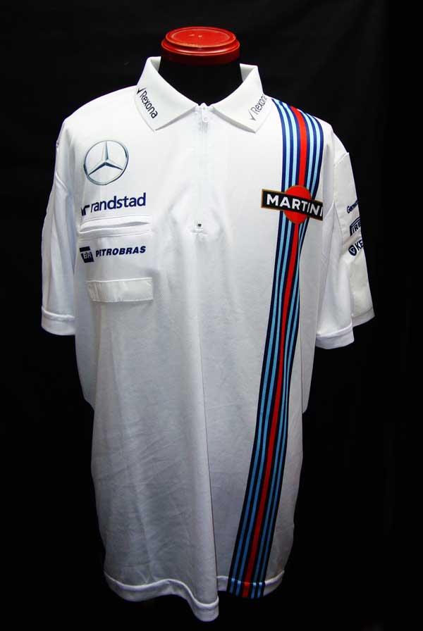 2015年 ウィリアムズ チーム支給品 ZIPポロシャツ プロトタイプ サイズXL 新品