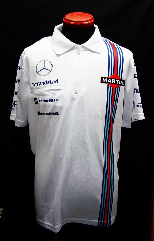 2014年 ウィリアムズ チーム支給品 ZIPポロシャツ  サイズM USED 汚れあり