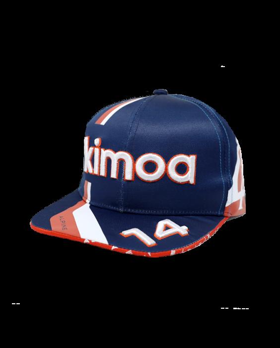2021 アルピーヌF1チーム F.アロンソ ドライバーズキャップ フラットタイプ(KIMOA製)
