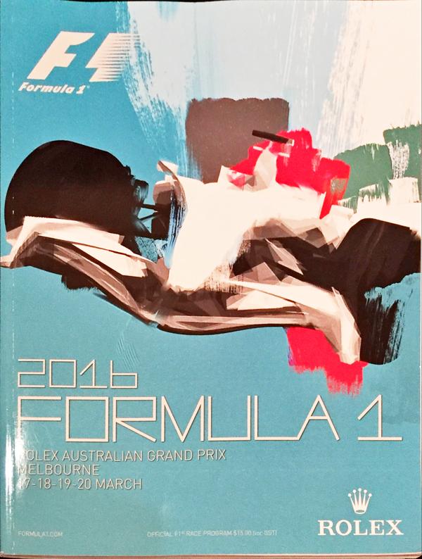 F1公式プログラム 2016年オーストラリアGP