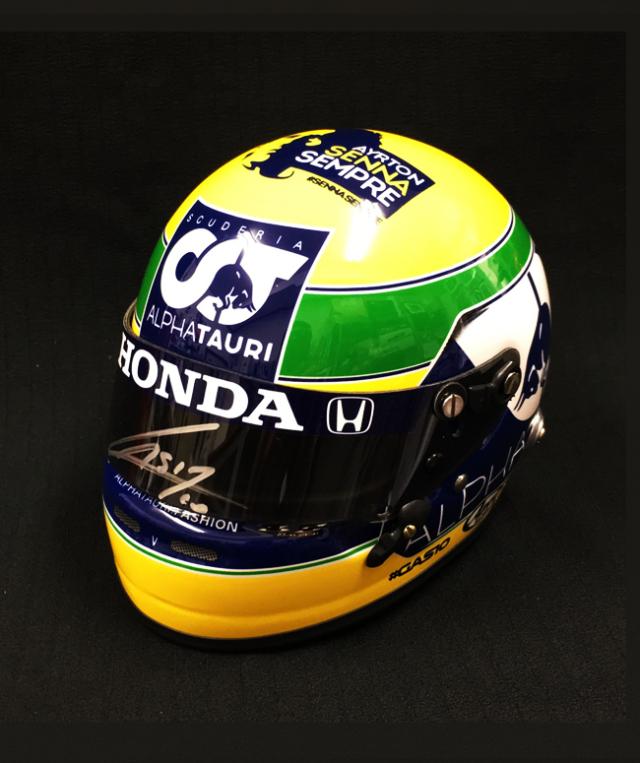 【並行輸入品】P.ガスリー直筆サイン入  2020年F1 エミリアロマーニャGP(IMOLA) 1/2 ヘルメット No.10