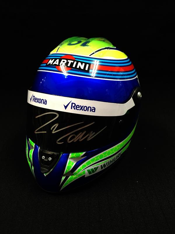 【SALE】F.マッサ 直筆サイン入 2016年ウィリアムズ 1/2ヘルメット