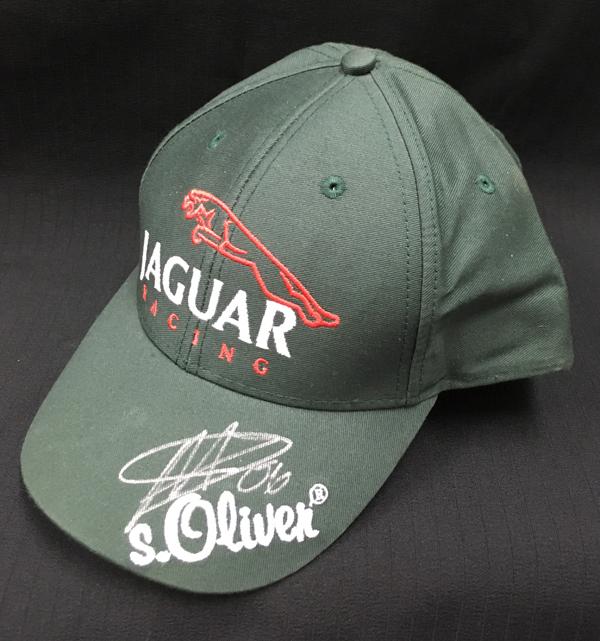 【オートグラフフェアー対象】【SALE】P.デラロサ 直筆サイン入 ジャガー F1 キャップ