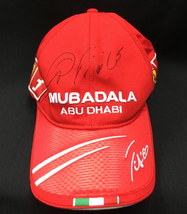 【サマーSALE】G.フィジケラ 直筆サイン入 2009年フェラーリ ドライバーキャップ 新品タグ付き