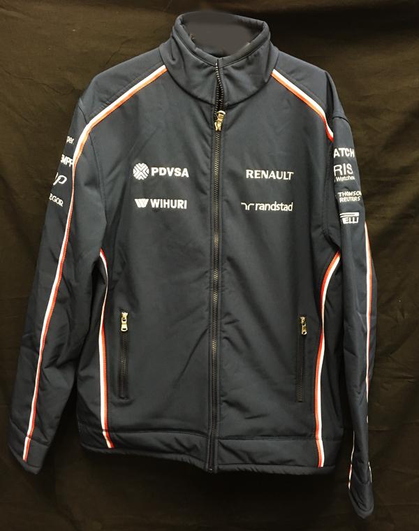 2013 ウィリアムズ チーム支給品 ソフトシェルジャケット サイズL USED