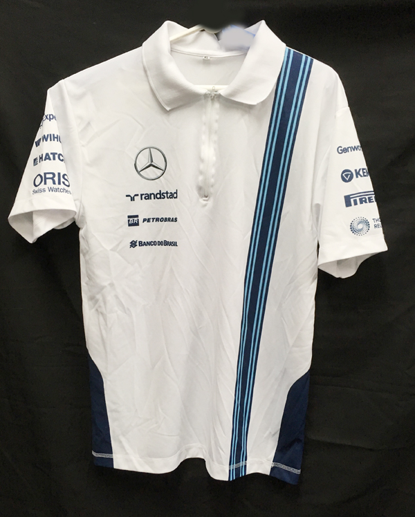 2014 ウィリアムズ チーム支給品 ZIPポロシャツ(アブダビGP用) サイズXL USED