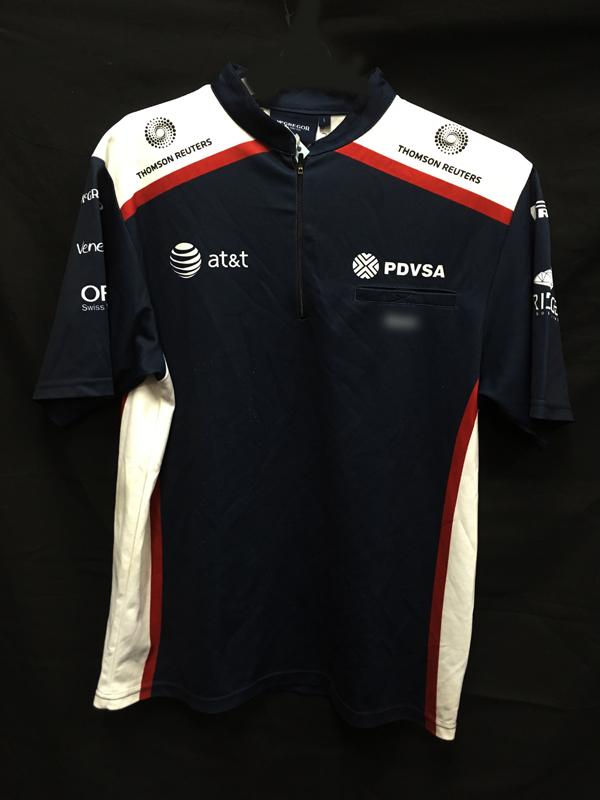 2011 ウィリアムズ チーム支給品 ZIPTシャツ サイズL USED