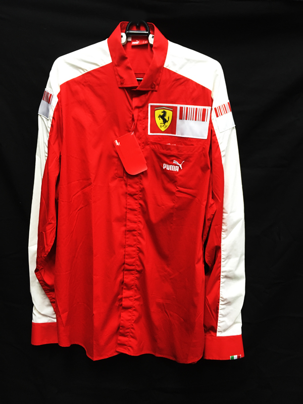 フェラーリ チーム支給品広報用 長袖PITシャツ サイズL 新品