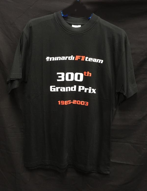 ミナルディ1985-2003 F1300GP 記念Tシャツ サイズM 新品 ※サイズ:着丈73×身幅50cm