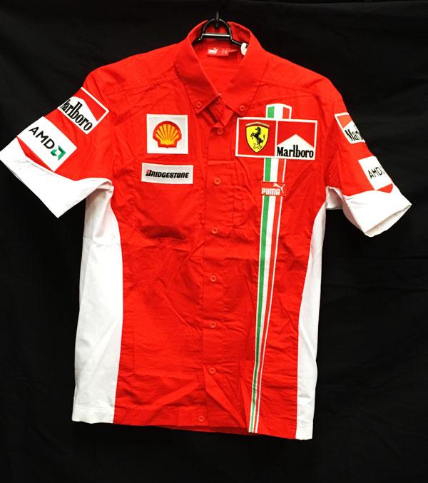 2007 フェラーリ チーム支給品 チーム ピットシャツ 半袖 サイズS USED マルボロ Made in Italy