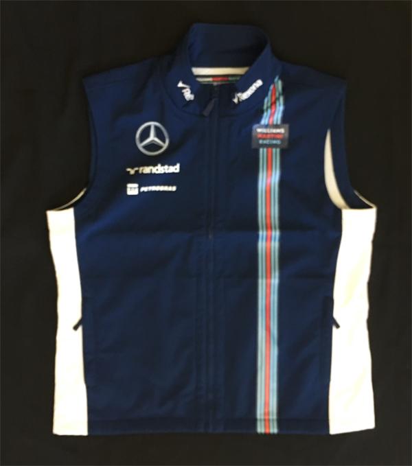 2016年 ウィリアムズ チーム支給品 チームベスト ロシアGP用 新品 ビニール袋入り サイズL